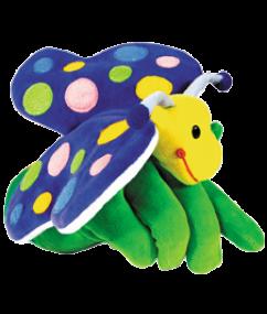 handpoppen - pluche - vlinder - dn houten tol - de mouthoeve - boekel - beleduc - hape