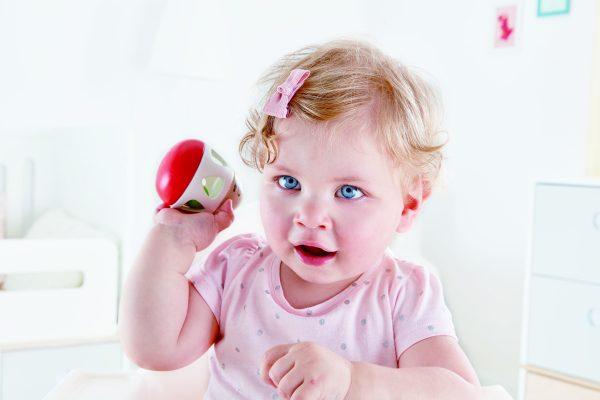 Bel rammelaar - hout - kunststof - speelgoed - houten speelgoed - dn houten tol - de mouthoeve - boekel - hape - baby