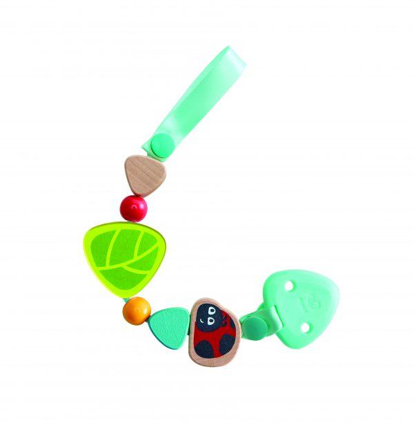 Lieveheersbeestje fopspeen Clip - Ladybug pacifer clip - lieveheersbeestje - speen - baby - hout - stof - speelgoed - houten speelgoed - dn houten tol - de mouthoeve - winkel - boekel - hape
