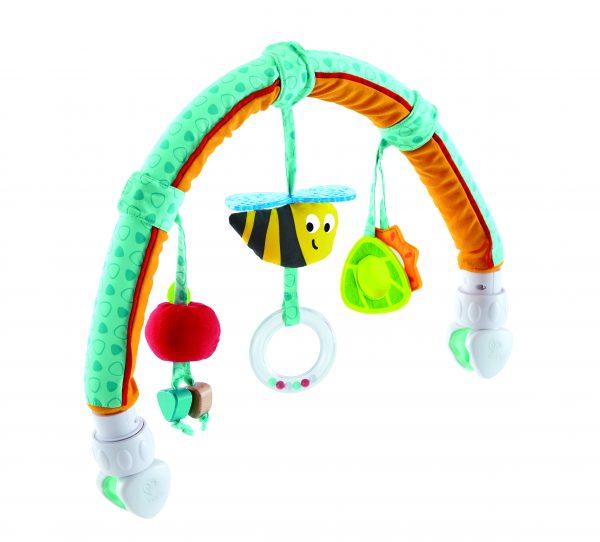 tuin vrienden wiegboog - Garden friends play arch - bij - stof - hout - kinderwagen - speelgoed - houten speelgoed - dn houten tol - de mouthoeve - winkel - boekel - hape