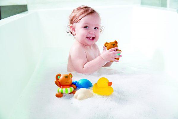 teddy and friends bath squirts - kunststof - speelgoed - badspeelgoed - buitenspeelgoed - water - bad - dn houten tol - de mouthoeve - winkel - hape