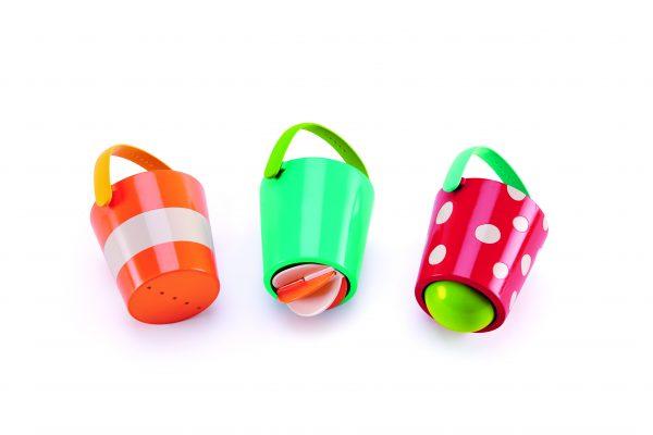 Happy buckers set - kunststof - speelgoed - buitenspeelgoed - speelgoed voor in bad - bad - water - dn houten tol - mouthoeve - boekel - hape