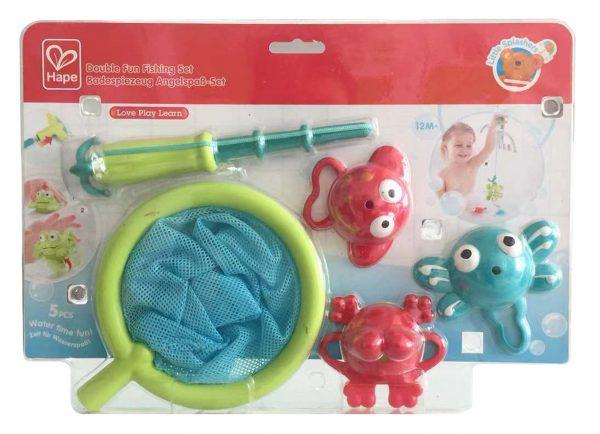 Double fun fishing set - kunstof - speelgoed - bad - water - dn houten tol - mouthoeve - boekel - hape