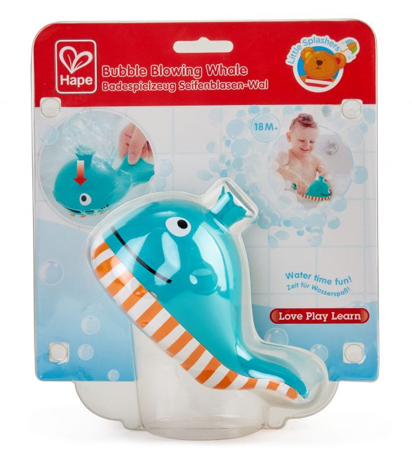 bubble blowing whale - kunststof - speelgoed - badspeelgoed - buitenspeelgoed - water - bad - dn houten tol - de mouthoeve - winkel - hape