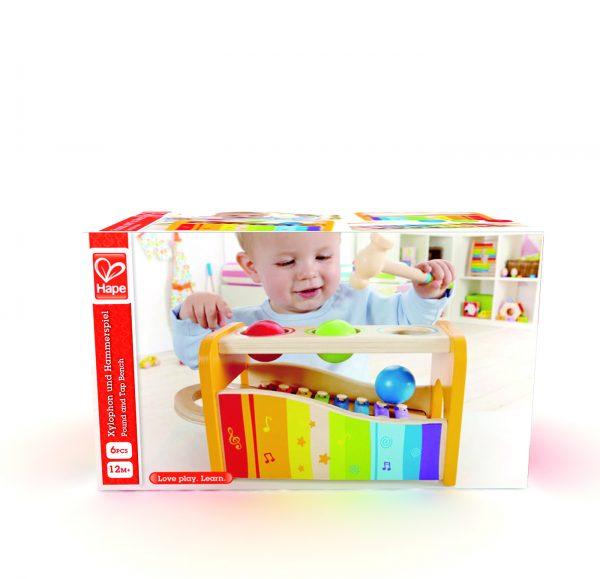 ballen xylofoon - muziek - xylofoon - muziek - baby - peuter - hout - houten speelgoed - speelgoed - dn houten tol - de mouthoeve - boekel - hape