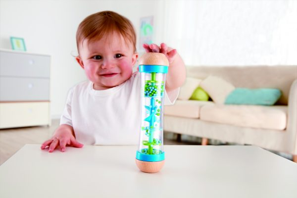 Kralen regendruppels blauw - blauw - regendruppels - kralen - speelgoed - houten speelgoed - hout - kunststof - dn houten tol - de mouthoeve - boekel - baby - peuter - hape