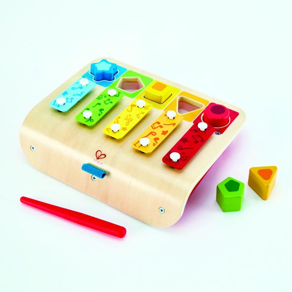 puzzel xylofoon - piano - puzzel - xylofoon - muziek - hout - speelgoed - houten speelgoed - baby - peuter - kleuter - dn houten tol - de mouthoeve - boekel - hape