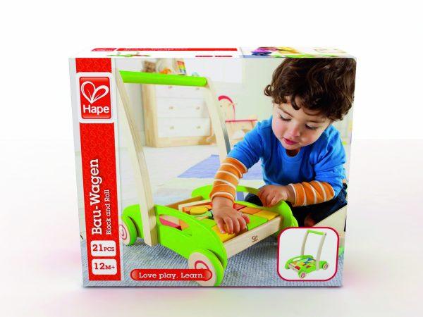 Block and roll - loopwagen - blokken - dn houten tol - speelgoed - houten speelgoed - boekel - mouthoeve - Hape