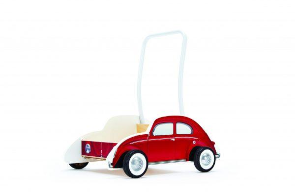 E0380 - hape - child - baby - cadeau - kraamcadeau - kado - Beetle walker red - loopwagen - dn houten tol - houten speelgoed - boekel - mouthoeve - Hape