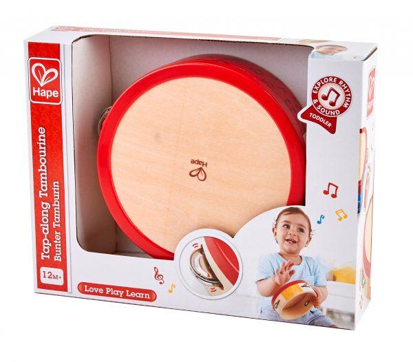 tamboerijn - baby - peuter - kleuter - speelgoed - houten speelgoed - muziek - muziekinstrument - dn houten tol - de mouthoeve - boekel - winkel - hape