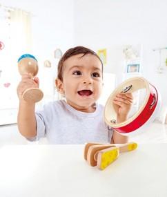 slagwerkset -speelgoed - houten speelgoed - percussie - muziek - baby - kleuter - peuter - junior - dn houten tol - de mouthoeve - boekel - winkel - hape