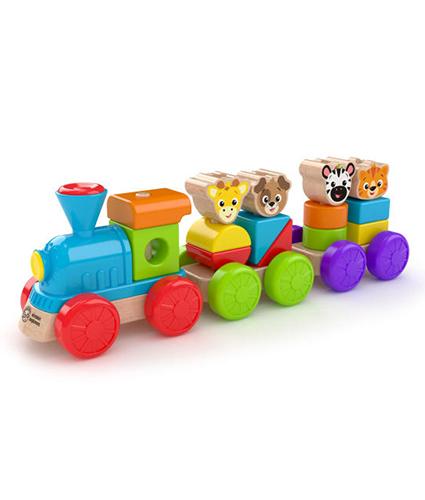Discovery train - trein - hout - houten speelgoed - speelgoed - dn houten tol - de mouthoeve - boekel - winkel - baby einstein