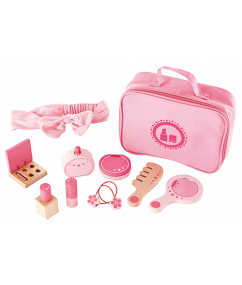 cosmeticaset - lippenstift - make up - hout - speelgoed - houten speelgoed - dn houten tol - de mouthoeve - boekel - hape