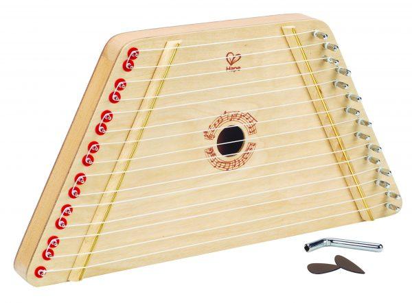 Harp - hout - muziek - instrument - houten speelgoed - speelgoed - dn houten tol - de mouthoeve - boekel - hape - peuter - kleuter - winkel