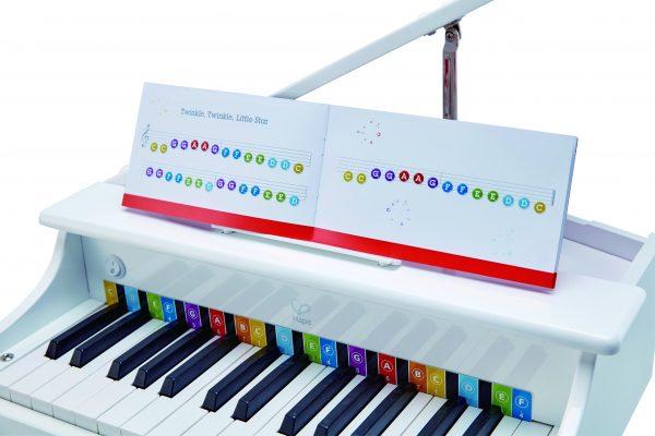 Luxe vleugel piano - piano - vleugel - hout - muziek - instrument - dn houten tol - de mouthoeve - boekel - winkel - peuter - kleuter - speelgoed - houten speelgoed - hape