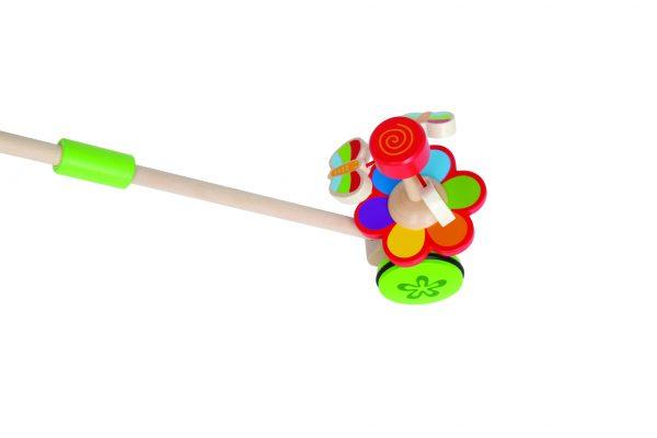duwstok - dansende vlinder duwstok - bloemen - vlinder - dansen - hout - dn houten tol - de mouthoeve - boekel - winkel - hape