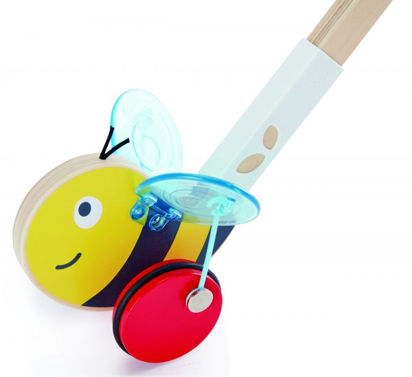 hommel duwstok - hommel - hout - speelgoed - houten speelgoed - winkel - dn houten tol - de mouthoeve - hape