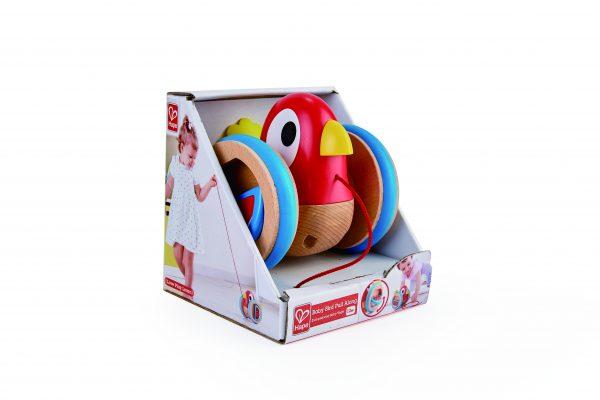 vogel - trekvogel - baby trekvgel - hout - speelgoed - houten speelgoed - dn houten tol - de mouthoeve - boekel - winkel - hape- baby - peuter