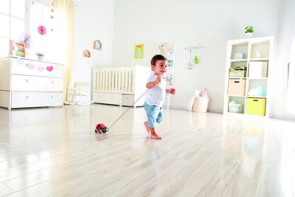 lieveheersbeestje trekdier - lieveheersbeestje - trekdier - hout - speelgoed - houten speelgoed - dn houten tol - de mouthoeve - boekel - winkel - hape - baby - peuter