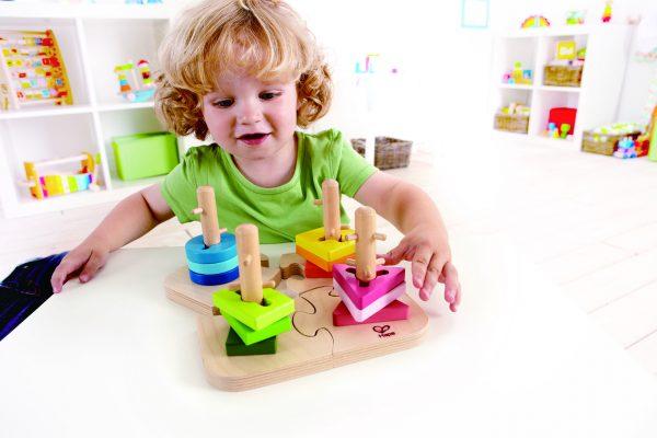 creatieve puzzel - creative peg puzzle - hout - speelgoed - houten speelgoed - dn houten tol - de mouthoeve - boekel - winkel - hape - baby - peuter - kleuter