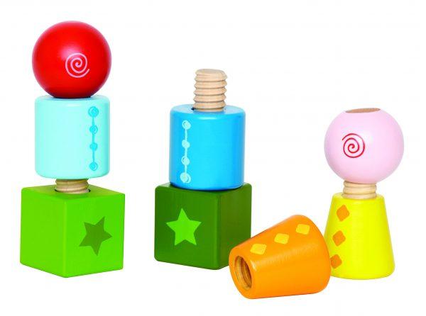 Draai vormen - twist & turnbles - vormen - kleuren - peuter - kleuter - speelgoed - hout - houten speelgoed - dn houten tol - de mouthoeve - boekel - winkel - hape