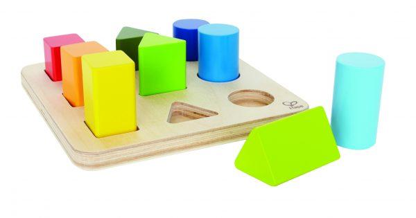 Vormen en kleuren sorteerder - color and shape sorter - hout - peuter - kleuter - hout - houten speelgoed - speelgoed - dn houten tol - de mouthoeve - boekel - winkel - hape