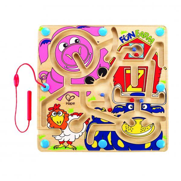 Fun Farm - magnetisch boederijdieren - motoriek - hout - boederij - speelgoed - houten speelgoed - hout - dn houten tol - de mouthoeve - boekel - winkel - hape - peuter - kleuter