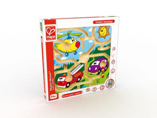 Migthy motors - motoriek - hout - speelgoed - houten speelgoed - dn houten tol - de mouthoeve - peuter - kleuter - boekel - winkel - hape