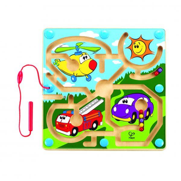 Migthy motors - magnetisch motors - motoriek - hout - speelgoed - houten speelgoed - dn houten tol - de mouthoeve - peuter - kleuter - boekel - winkel - hape