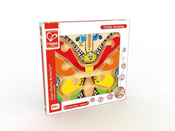 vlinder - magische vlinder dolhof - color flutter butterfly - hout - speelgoed - houten speelgoed - dn houten tol - de mouthoeve - boekel - winkel - peuter - kleuter - hape