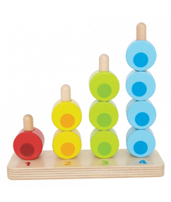 Kralen Tellen - Counting stacker - hout - speelgoed - kleuren - speelgoed - houten speelgoed - dn houten tol - de mouthoeve - boekel - winkel - hape