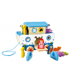 Noah's Ark - pull along noah's ark - hout - dieren - speelgoed - houten speelgoed - peuter - kleuter - dn houten tol - de mouthoeve - boekel - winkel - hape