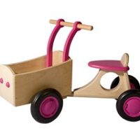 bakfiets - roze - van dijk bakfiets - roze bakfiets - speelgoed - houten speelgoed - hout - roze - van dijk toys- van dijk speelgoed - dn houten tol - de mouthoeve - boekel - winkel - peuter - kleuter