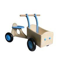 licht blauw - bakfiets - loopfiets - van dijk toys - van dijk speelgoed - speelgoed - houten speelgoed - dn houten tol - de mouthoeve - boekel - winkel - peuter - kleuter