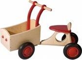 bakfiets - houten bakfiets - rood - hout - peuter - kleuter - speelgoed - houten speelgoed - dn houten tol - de mouthoeve - boekel - winkel- van dijk toys - van dijk speelgoed