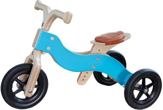 trike - trike blauw - houten trike - van dijk toys - toys houten speelgoed - hout - peuter - kleuter - speelgoed - houten speelgoed - dn houten tol - de mouthoeve - boekel - winkel