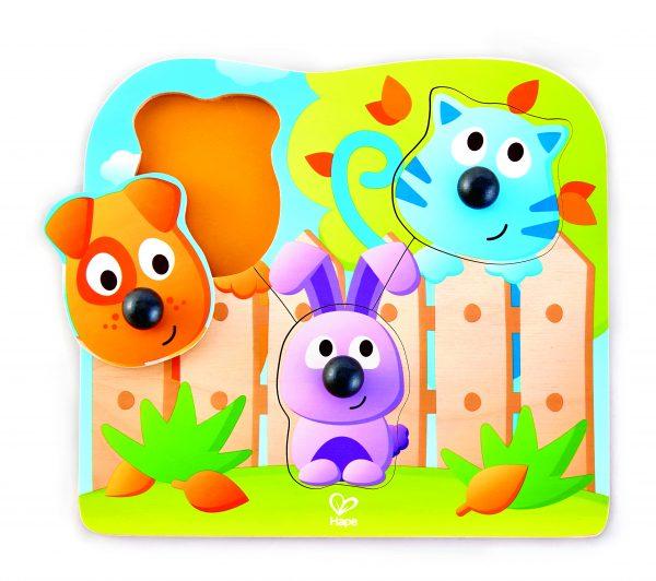Puzzel - big nose wild puzzle - houten puzzel - huisdieren- grote neuse huisdieren puzzel - speelgoed - hout - houten speelgoed - dn houten tol - de mouthoeve - boekel - winkel - hape