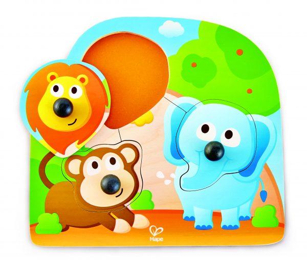 puzzel - hout - big nose jungle puzzle - grote neus wilde dieren puzzel - dieren - dieren puzzel - speelgoed - houten speelgoed - dn houten tol - de mouthoeve - boekel - winkel - hape