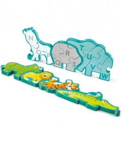 puzzel - Alphabet & animal parade - alfabet dieren puzzel - alfabet - puzzel - dieren - speelgoed - houten speelgoed - dn houten tol - de mouthoeve - boekel - winkel - hape