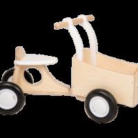 bakfiets - van dijk - dn houten tol - de mouthoeve - boekel - peuter - kleuter - speelgoed - houten speelgoed - wit