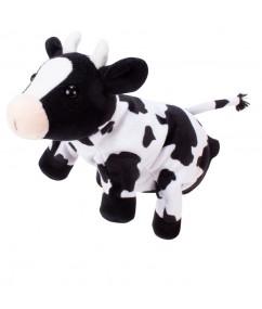 Handpuppet cow - koe - handpop - speelgoed - houten speelgoed - dn houten tol - de mouthoeve - boekel - winkel - beleduc