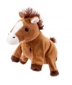 Handpuppet horse - paard - handpop - pluche - speelgoed - houten speelgoed - dn houten tol - de mouthoeve - boekel - winkel - beleduc