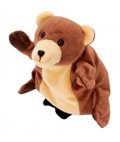 """handpop beer -Handpuppet """"Bear"""" - beer - pluche - speelgoed - houten speelgoed - dn houten tol - de mouthoeve - boekel - winkel - beleduc"""