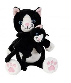 handpoppen - handpop poes - handpop cara en mimi - mom & baby handpuppet - pluche - speelgoed - houten speelgoed - dn houten tol - de mouthoeve - winkel - boekel - beleduc