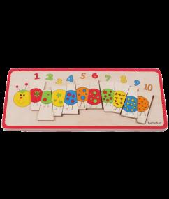 """puzzel - telrups - Matching Puzzle """"Caterpillar"""" - telrups puzzel - hout - houten speelgoed - speelgoed - dn houten tol - de mouthoeve - boekel - winkel - beleduc - peuter - kleuter"""