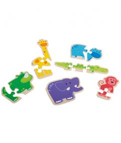 puzzel - blije dierenpuzzel - happy animal - hout - houten speelgoed - speelgoed - dn houten tol - de mouthoeve - boekel - winkel - hape - beleduc - baby - peuter