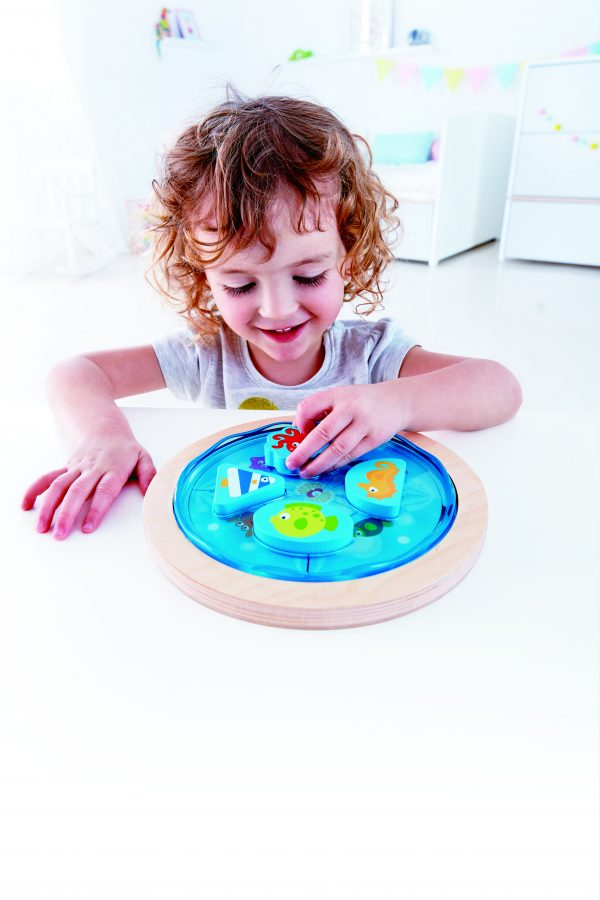 E1604 - deep sea discovery puzzle - diepzee puzzel - hout - peuter - kleuter - speelgoed - houten speelgoed - dn houten tol - de mouthoeve - boekel - winkel - hape - puzzel