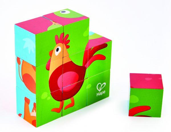 boederij blokken puzzel - farm animal block puzzle - hout - dieren - boerderijdieren puzzel - speelgoed - houten speelgoed - e1618 - hape - dn houten tol - de mouthoeve - boekel - winkel - peuter - kleuter