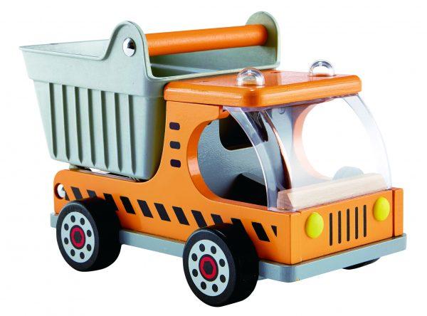 dumper truck - auto's - speelgoed - houten speelgoed - boekel - hout - truck - dn houten tol - de mouthoeve - hape