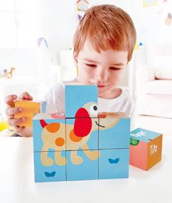 puzzel - vrienden blokken puzzel - friendship puzzle blocks - hout - baby - peuter - dieren puzzel - speelgoed - houten speelgoed - dn houten tol - de mouthoeve - boekel - winkel - hape - e0452